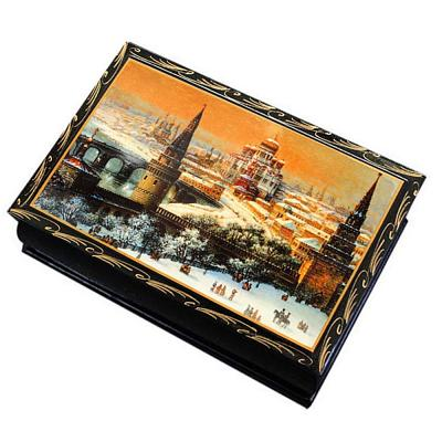 """Chocolate prunes with almonds in a lacquer box """"Winter Moscow"""", 150 g"""