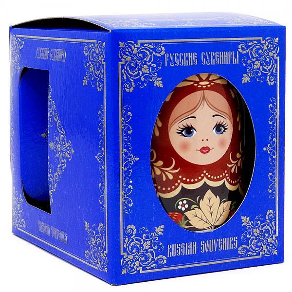 "Souvenir Mug Khokhloma Martyoshka gift box, 3.75"""