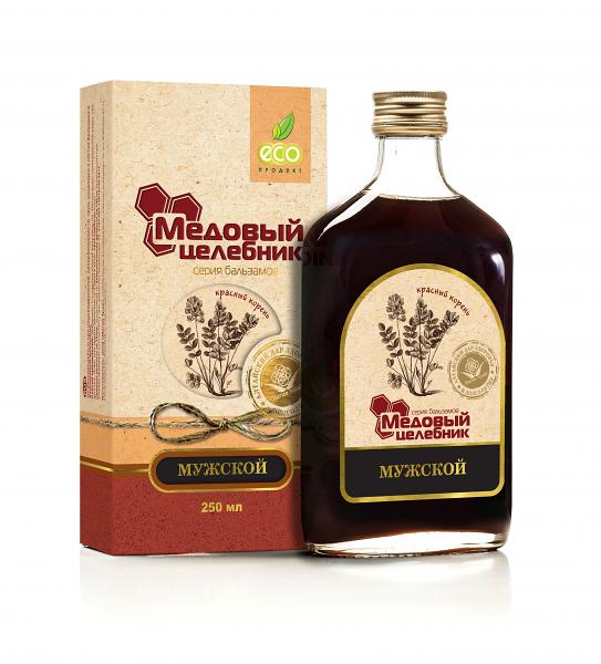 "Herbal Balm for MEN ""Honey Curative"", 8.45 oz / 250 ml"
