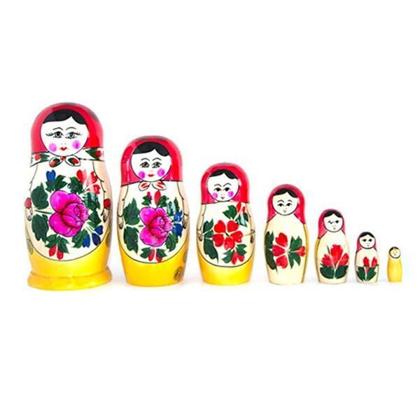 "Traditional Russian Nesting dolls ""Matreshka-Semenovskaya"" 7psc.(СM7)"