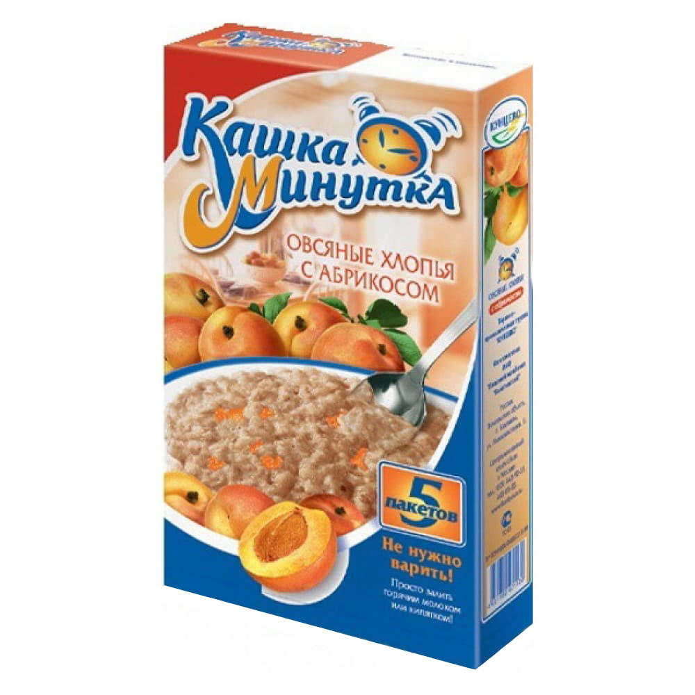 Oatmeal Porridge w/ Apricot, Minutka, 0.41 lb / 185g