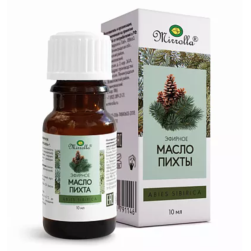 Siberian Fir (Abies Sibirica) 100% Natural  Essential Oil, Mirrolla, 0.3 oz/ 10 Ml