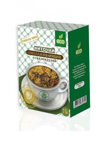 Herbal Anti-aging Phyto Tea with Сalendula, 2.64 oz / 75 g