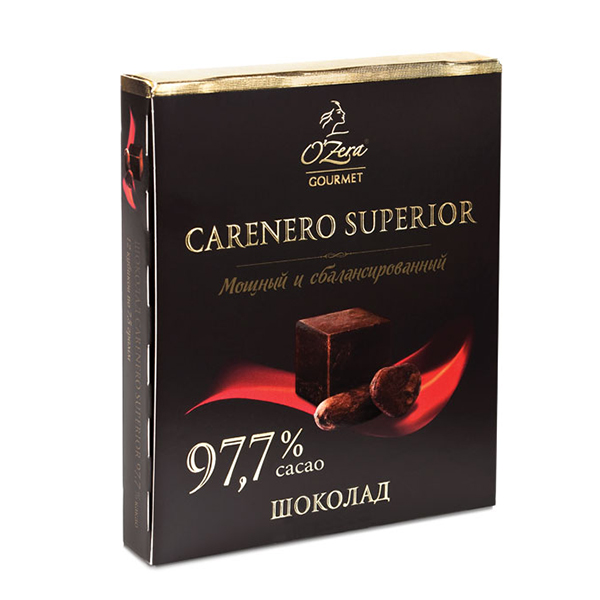 Dark Chocolate O'Zera Carenero Superior 97.7 % Cacao, 3.17 oz / 90 g