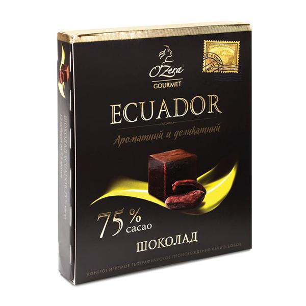 Dark Chocolate O'Zera Ecuador 75 % Cacao, 3.17 oz / 90 g