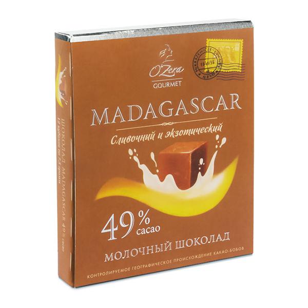 Milk Chocolate O'Zera Madagascar 49 % Cacao, 3.17 oz / 90 g