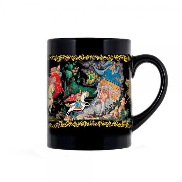"""Souvenir Mug Palekh Styled, Size 3.75"""""""