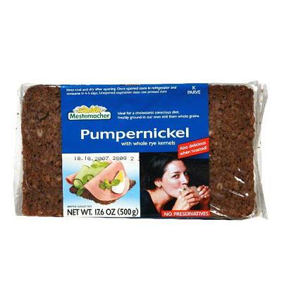 Natural Pumpernickel Bread, 17.6 oz / 500 g (Mestemacher)