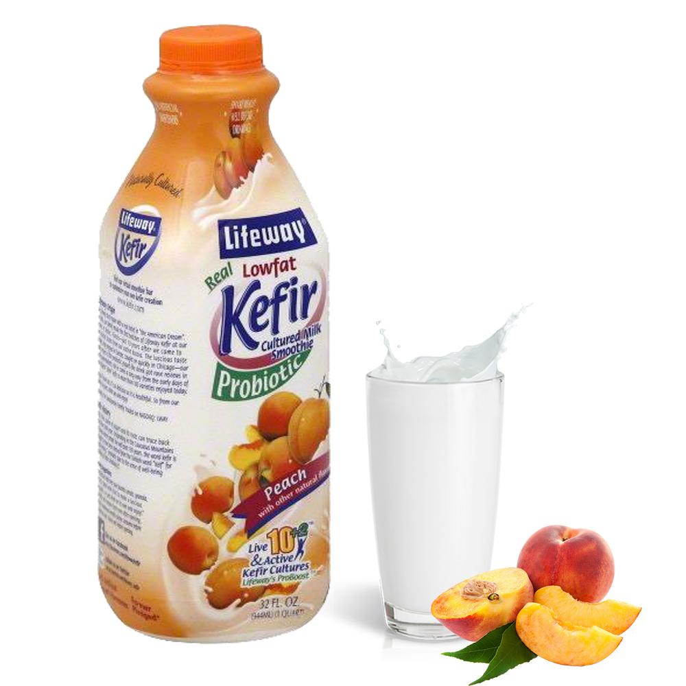 Lifeway Low Fat Kefir with Peach, 32 oz / 0.94 L