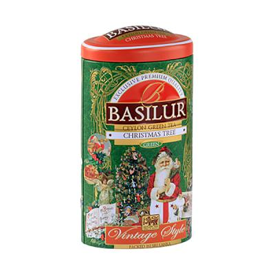 Basilur Ceylon Green Tea Vintage Style with Mango and Passionfruit in a Tin Caddy, 3.53 oz / 100 g