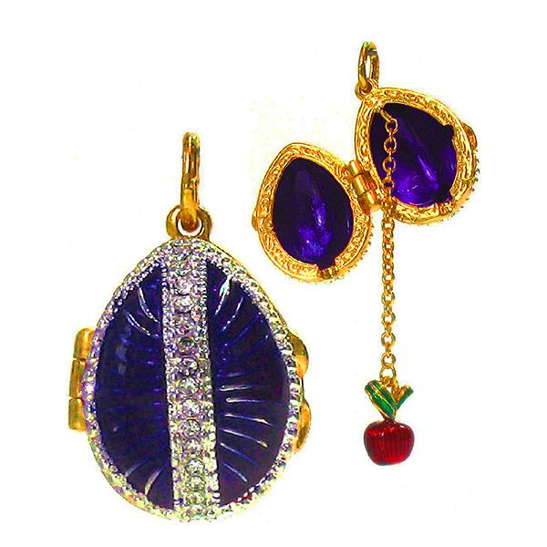 "Locket Pendant Sunduchok (purple), 1"" (1214-3409)"