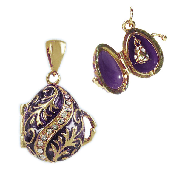 "Locket Pendant Twist (purple), 1"" (1214-6109)"