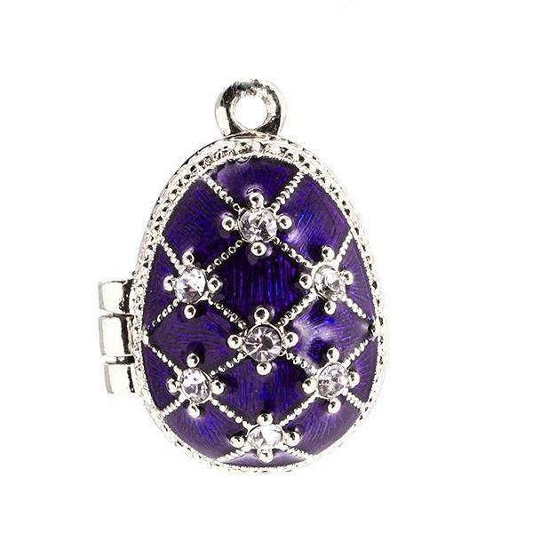 """Locket Pendant Stars with Angel (purple), 1"""" (1214-2909)"""