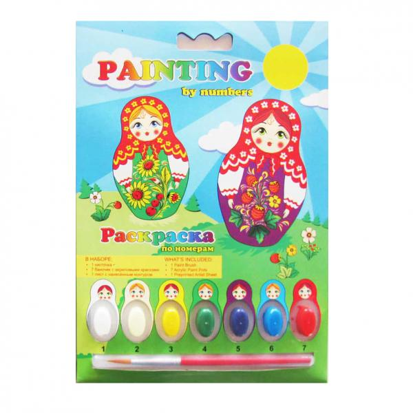 Matryoshkas Painting by Numbers Coloring Kit