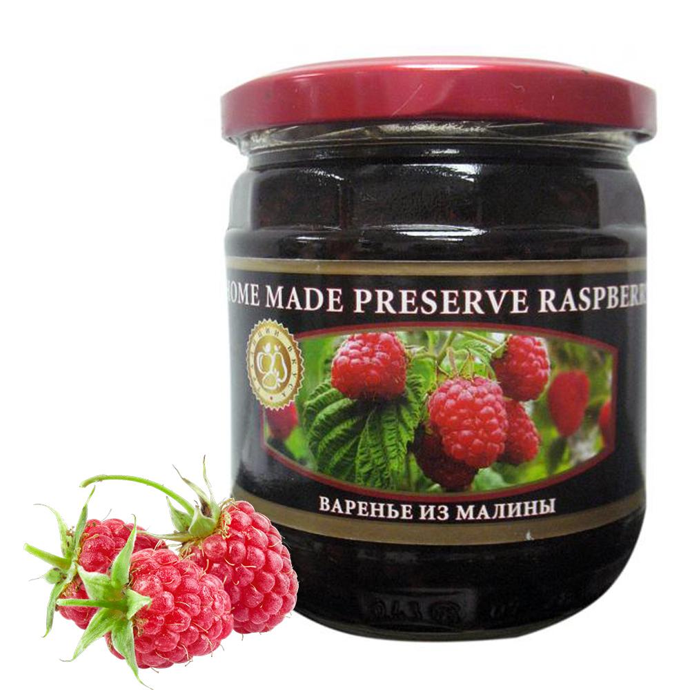 Homemade Preserve Raspberry, 17.63 oz / 500 g
