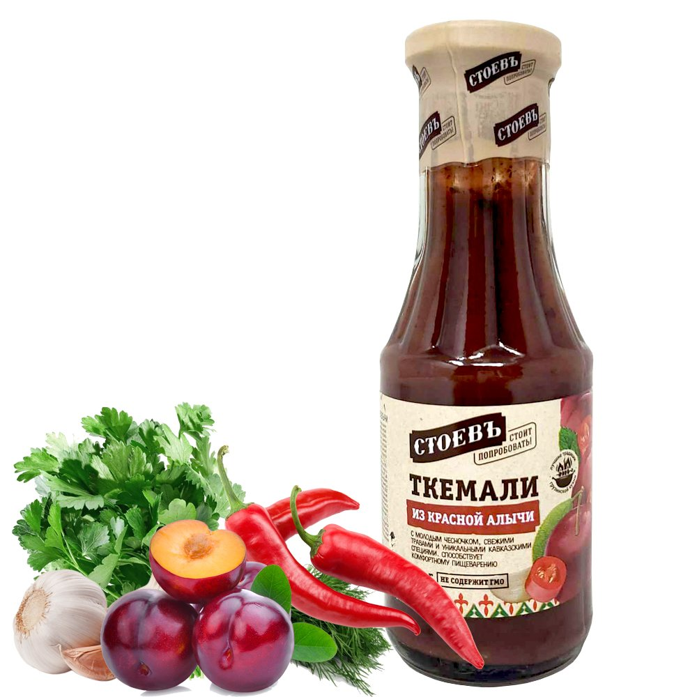 Tkemali Red Cherry Plum Sauce, Stoev, 320 g/ 0.71 lb