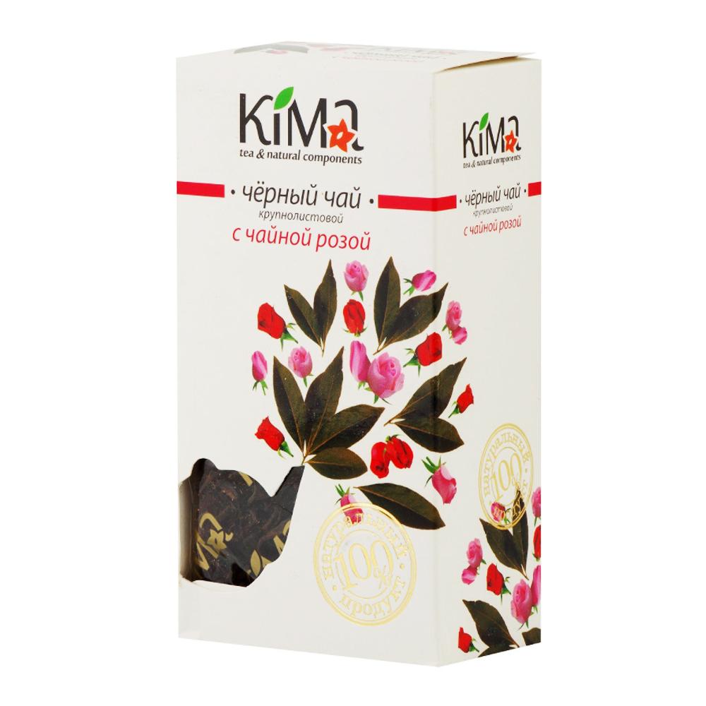 Premium Black Leaf Tea w/ Tea Rose Petals, KIMA, 50 g/ 0.11 lb