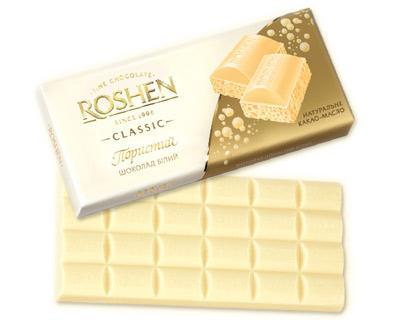 Roshen Aerated White Chocolate, 3.52 oz / 100 g