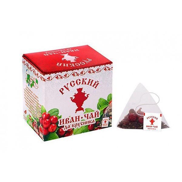 Ivan Tea with Lingonberry, 20 pyramids