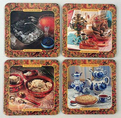"""Russian Cuisine"" Coaster Set 4psc"