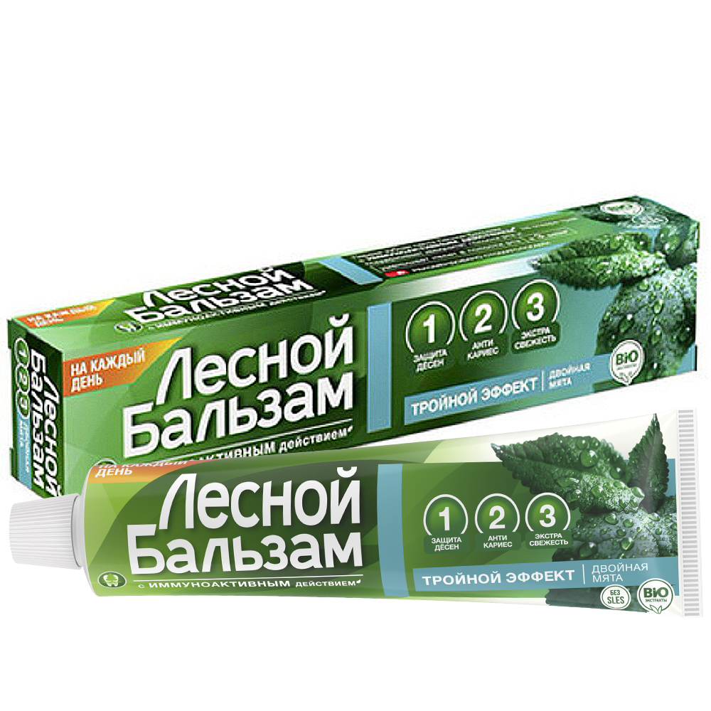 Forest Balm Extra Fresh Protective Toothpaste with Black Currant and Mint, 2.54 oz / 75 Ml