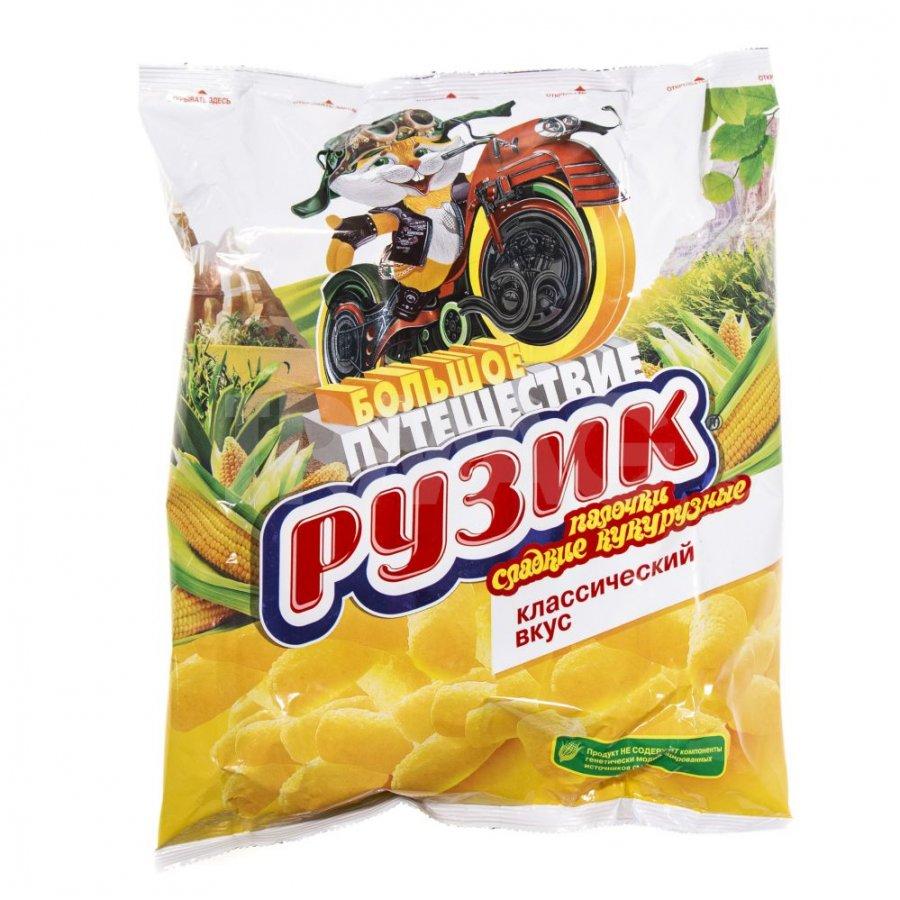 Sweet Corn Sticks w/ Vitamins & Iron, Classic Taste, Ruzik Great Journey, 0.2 lb/ 90 gr