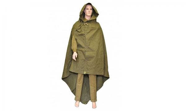Made in USSR Original Soviet Russian Army WWII Type Soldier Field Canvas cloak tent Raincoat Poncho by Sovietic Army