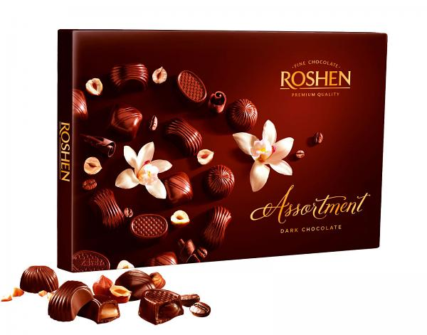 Assortment Box Chocolate Candy Classic Dark Elegant by ROSHEN  145g