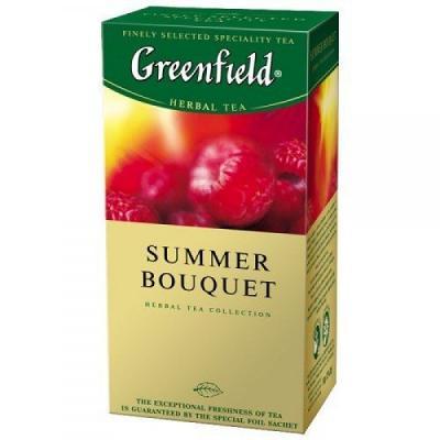 """Greenfield Herbal Tea """"Summer Bouquet"""", 25 Tea Bags  1,76 oz / 50 g"""