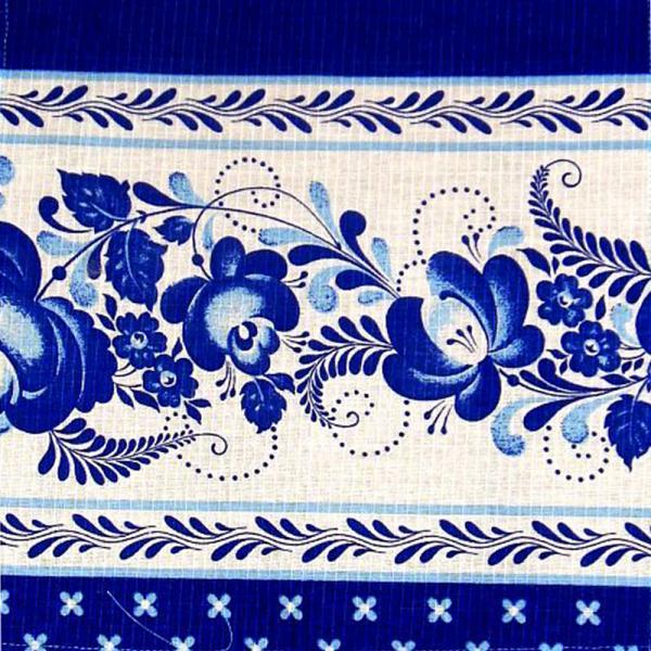 Gzhel Souvenir Towel - A06002, design #1