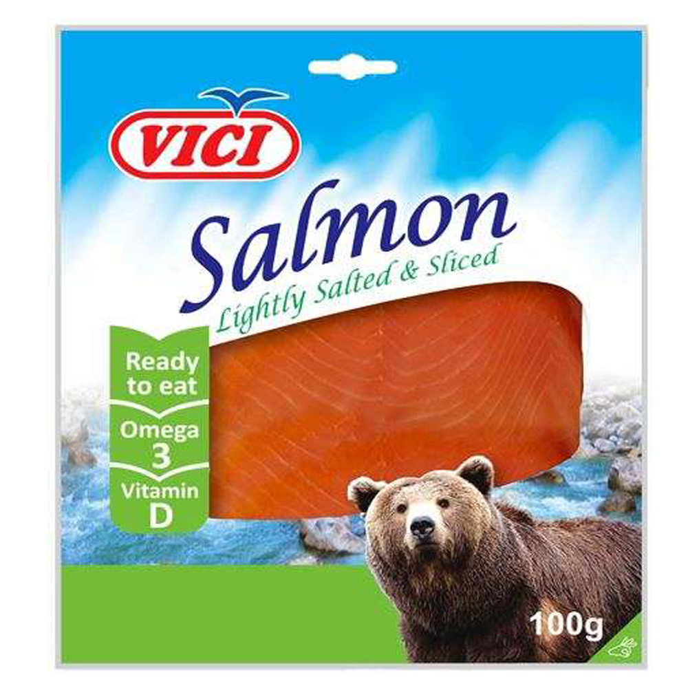 Lightly Salted Salmon Slices, 0.22lb/ 100g