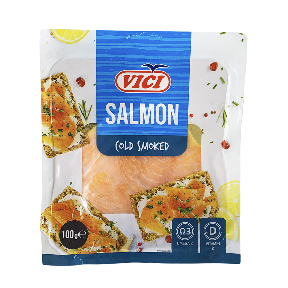 Cold Smoked Salmon Slices, 0.22lb/ 100g