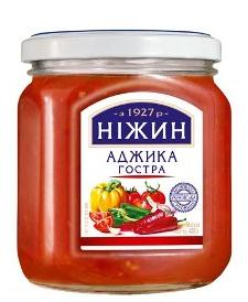 Nezhin Hot Ajika with a Spicy Flavor of Garlic, Pepper and Spices, 15.87 oz / 450 g