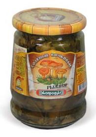 Eko Wild Salt Cask Saffron Milk Cup Mushrooms without Vinegar Ryzhiki, 540 g