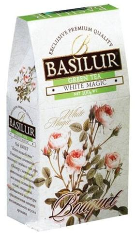Basilur Pure Green Milk Oolong Tea White Magic from Bouquet Collection Loose, 3.52 oz / 100 g