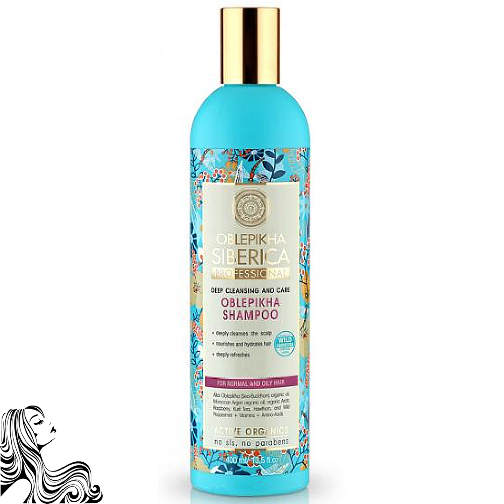 Shampoo Sea Buckthorn Deep Cleansing for Normal and Oily Hair, Natura Siberica, 13.52 oz/ 400 Ml