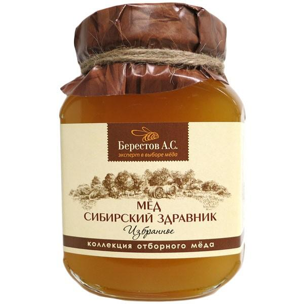 "Natural Siberian Altai Honey ""Zdravnik"", 1.1 lb / 500 g (Berestov)"