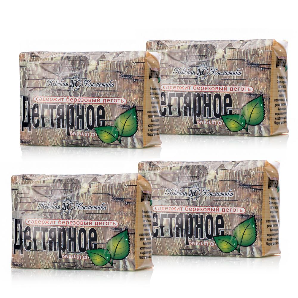 Tar Soap, Neva Cosmetics, 100 g x 4 pcs