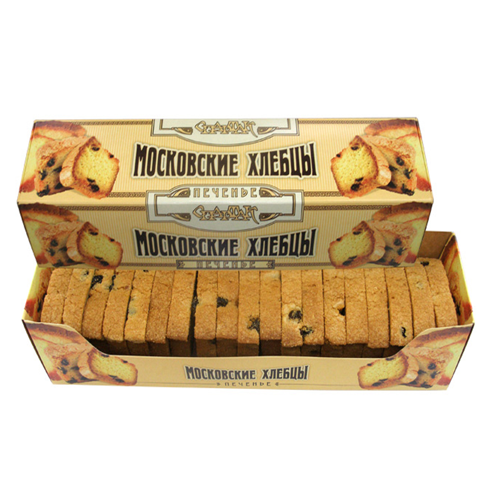 Cookies Moscow Khlebtsi w/ Raisins, Spartak, 200 gr/ 0.44 lb