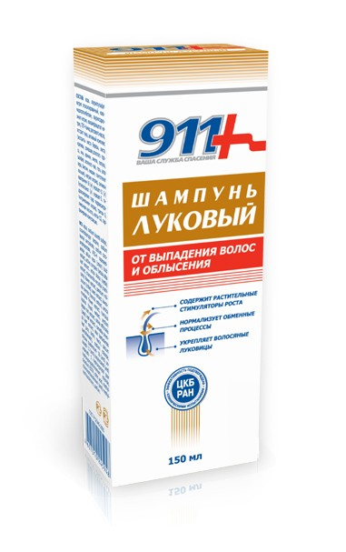 911 Hair Loss and Baldness Preventing Onion Shampoo, 5.07 oz/ 150 Ml