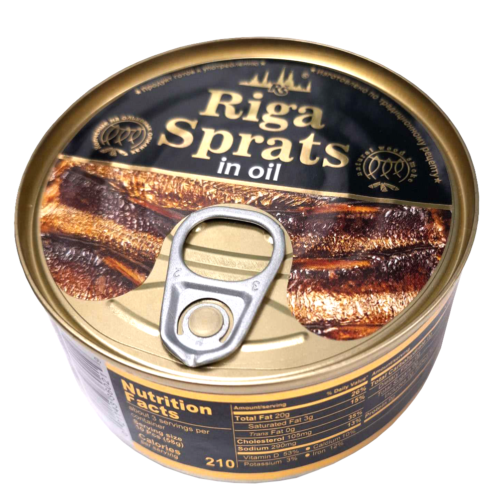 Smoked Sprats in Oil, Belvedere, 240 g/ 0.53 lb