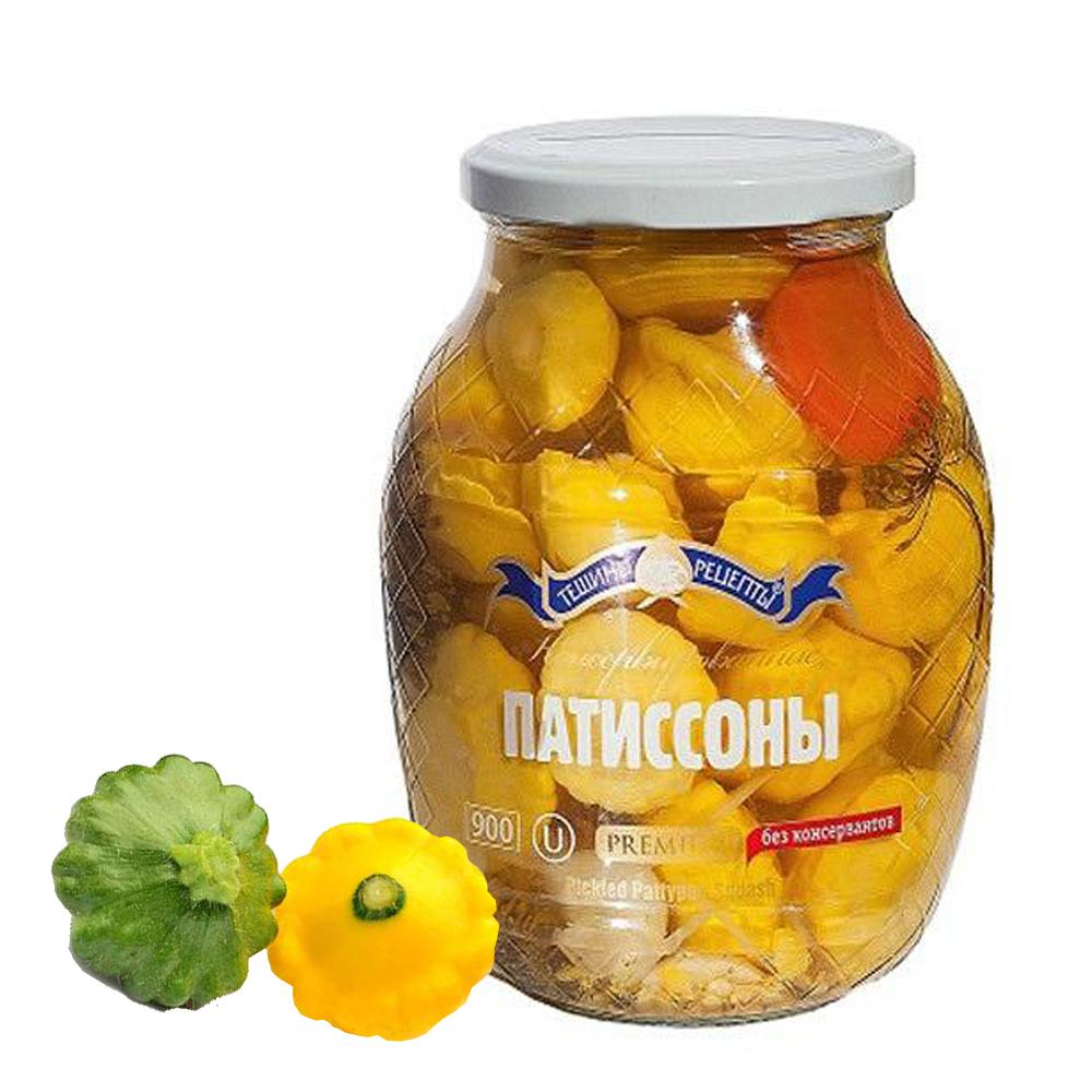 Pickled Sguash/Patissons, Teshcha's Recipes, 1.98 lb/900 g