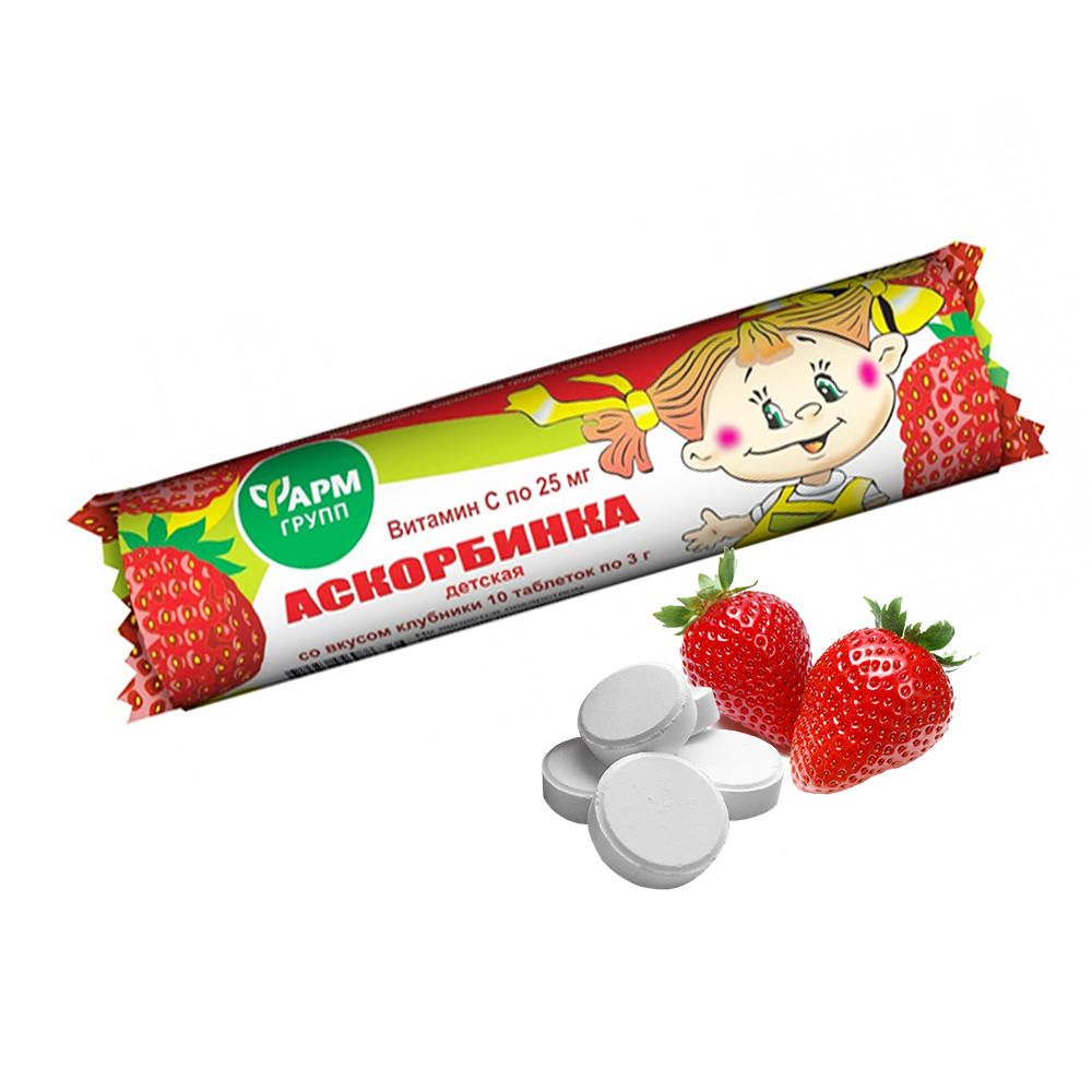Ascorbic Acid Strawberry Flavor, 25g