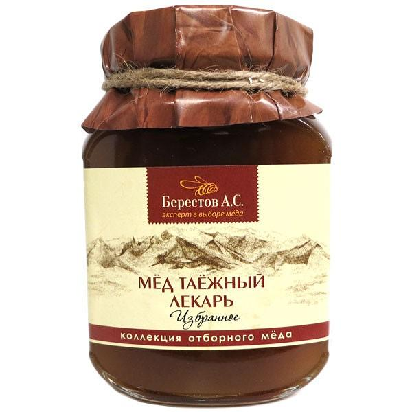 "Natural Altai Honey ""Taiga Healer"", 1.1 lb / 500 g (Berestov)"