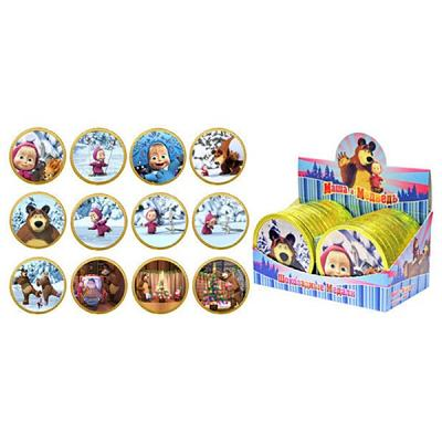 "Chocolate Medals Masha and the Bear ""New Year"", 0.88 oz / 25 g ""Shokoladnyi Dom"""