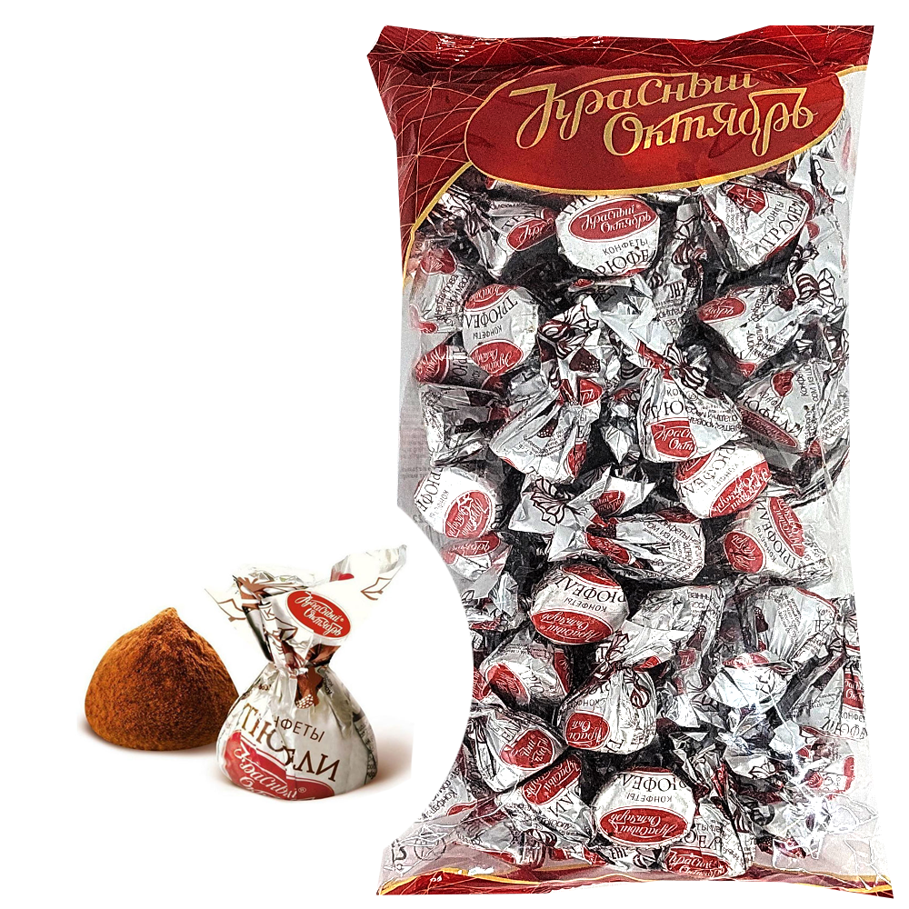 Unglazed Chocolate Candies, Truffle, Red October, 800g / 1.7lb