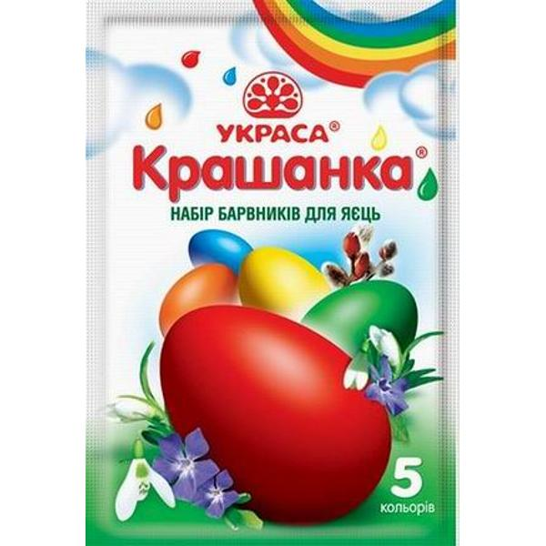 "Easter Egg Dyes ""Krashanka"" 5 colors"