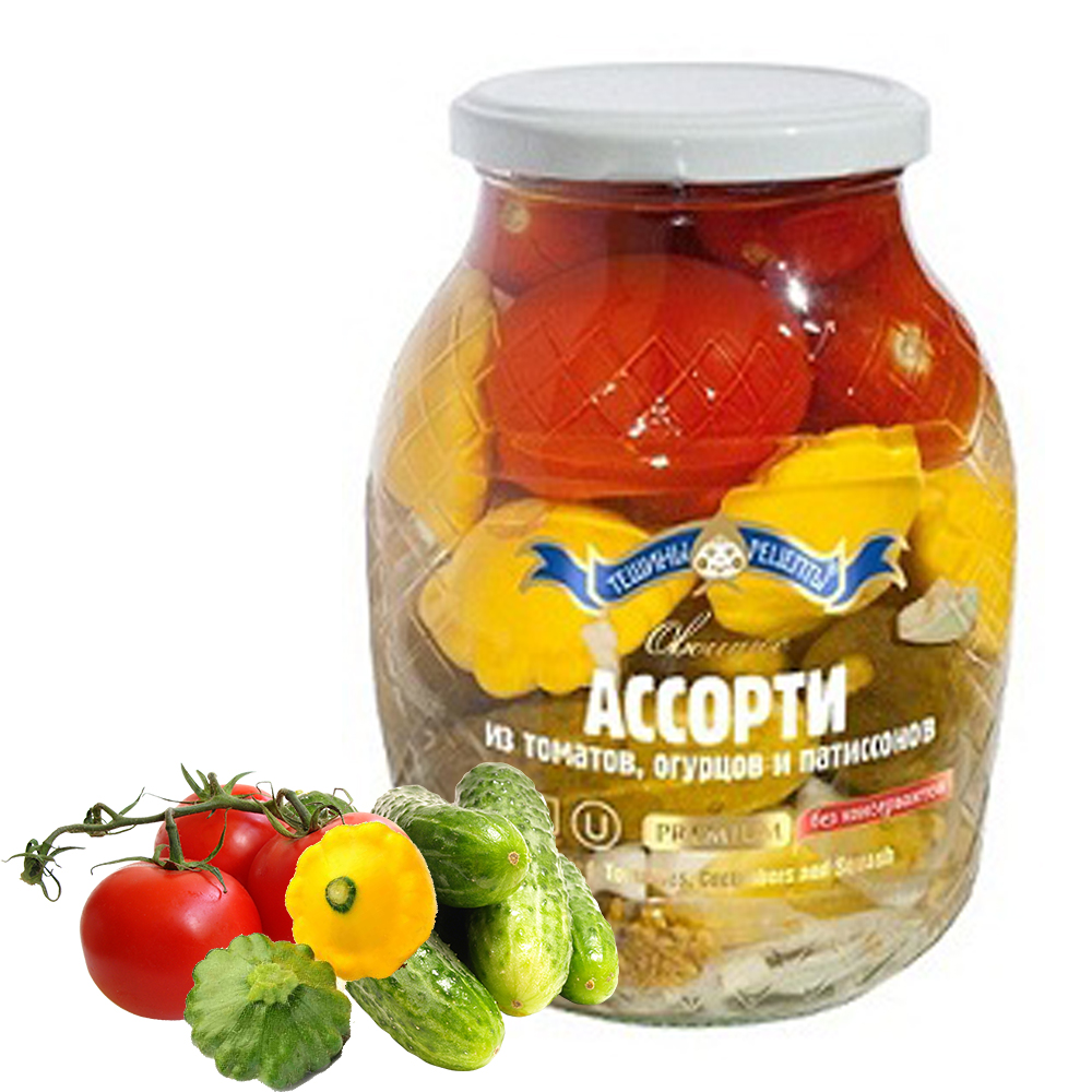 Marinated Assortment of Tomatoes, Cucumbers and Squash, 1.98lb/ 900 g