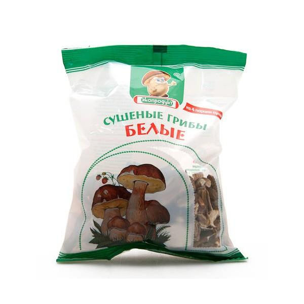 Dried White Mushrooms, 1.76 oz / 50 g (Ecoproducts)