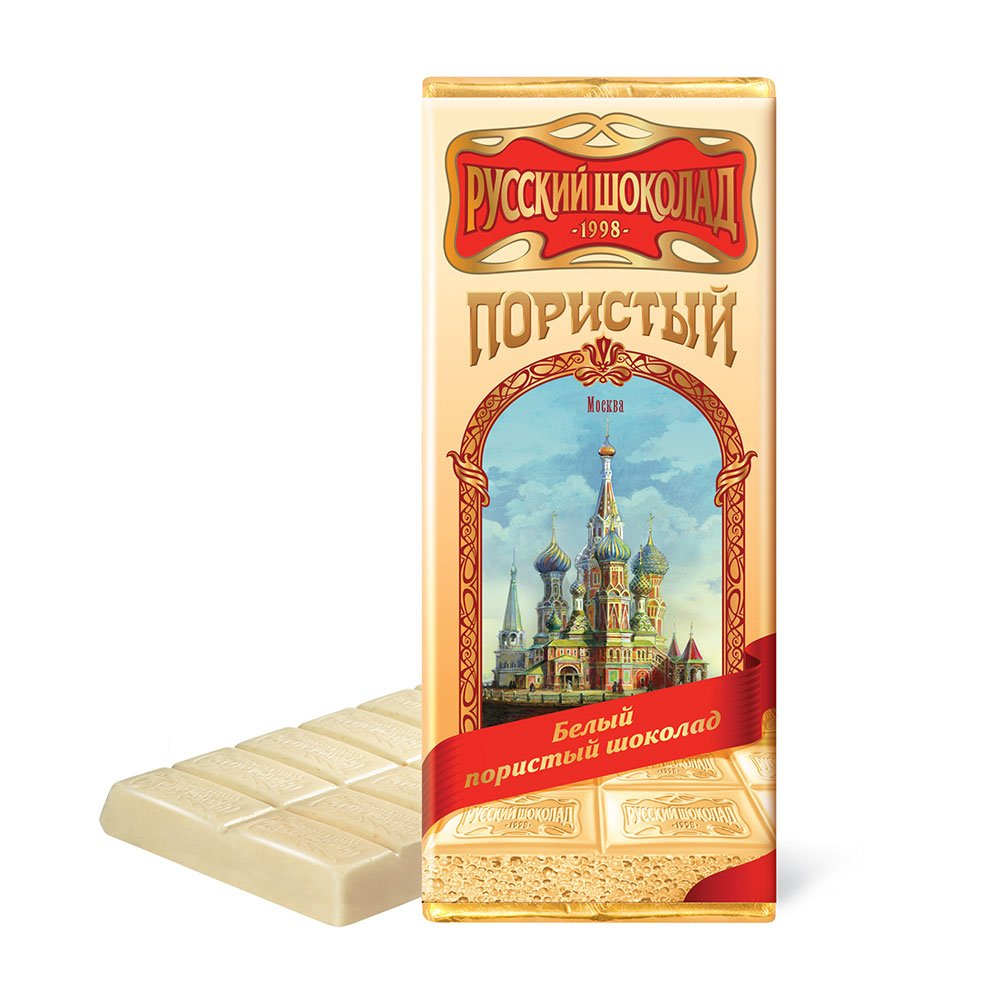 Russian White Aerated Chocolate, 3.52 oz / 100 g